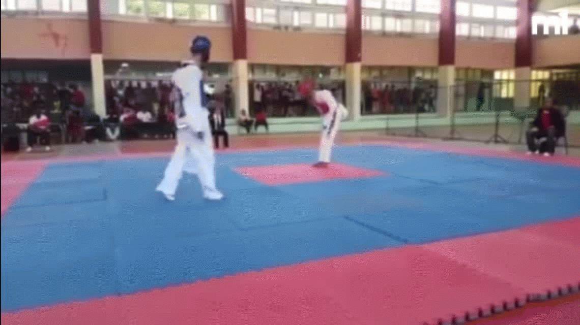 VIDEO: Un adolescente se infartó y murió durante una pelea de taekwondo