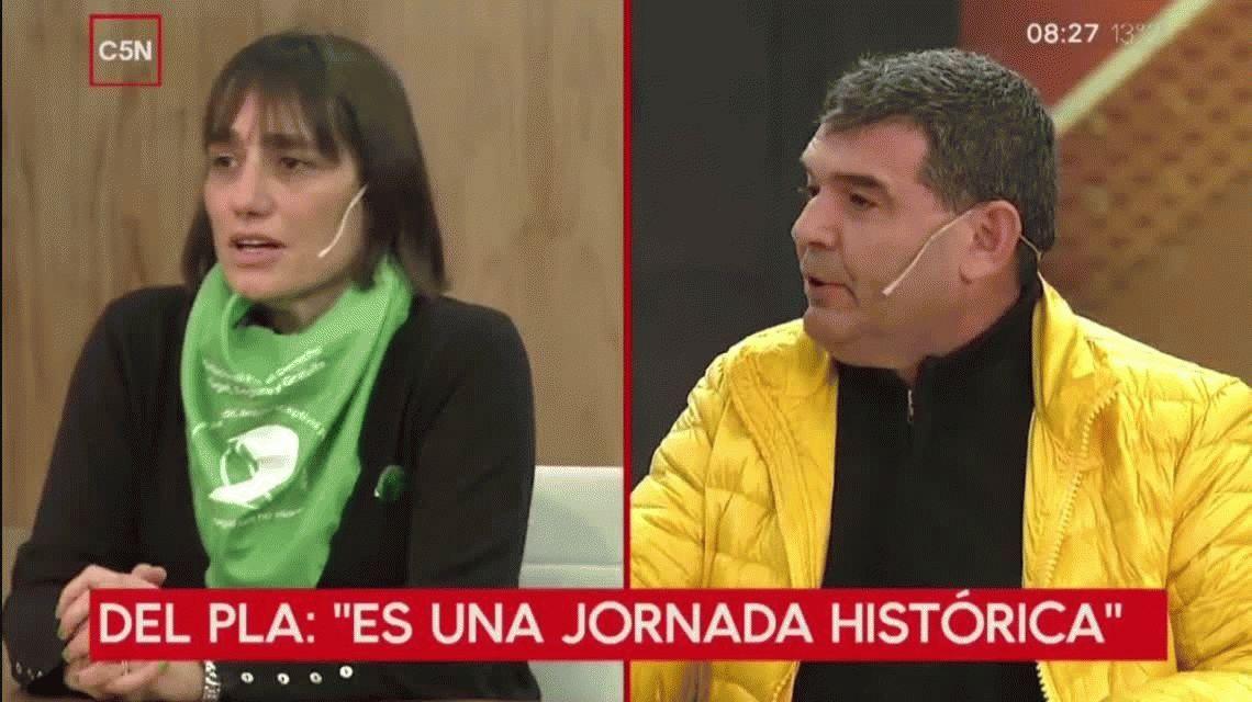 VIDEO: Fuerte cruce entre Romina Del Plá y Alfredo Olmedo por el aborto