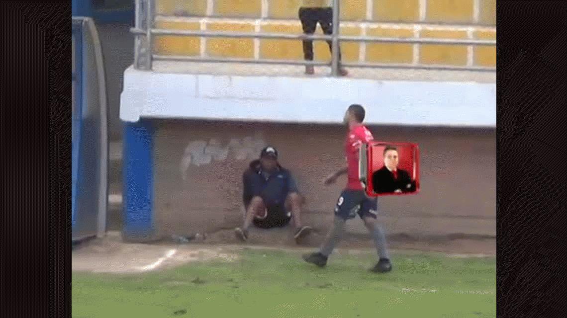 Escándalo: el Pochi Chávez se agarró a piñas con el ayudante técnico de su equipo