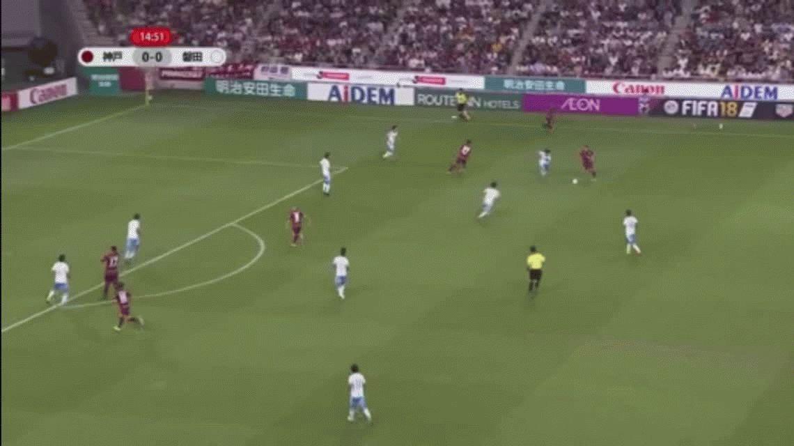Grande en Japón: el exquisito control de Andrés Iniesta para hacer su primer gol en el Vissel Kobe