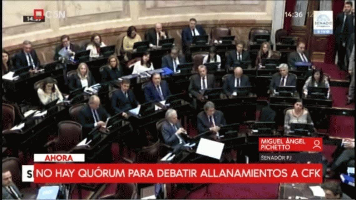 Pichetto, sobre el allanamiento a CFK: Mientras no haya riesgo de fuga no veo la razón de detenerla
