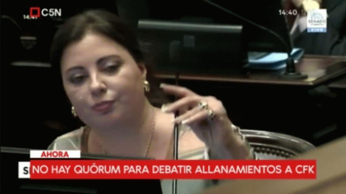 No hubo quórum en el Senado para debatir los allanamientos a Cristina Kirchner