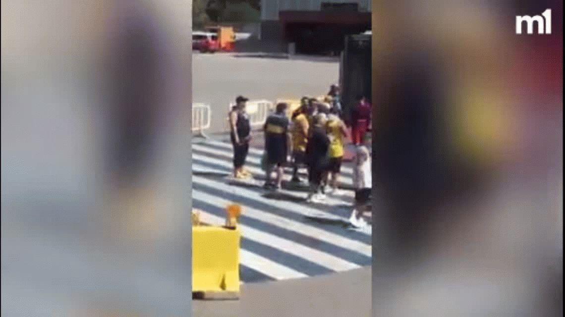 El jugador N°12: Rafa Di Zeo estuvo en el Camp Nou alentando a Boca