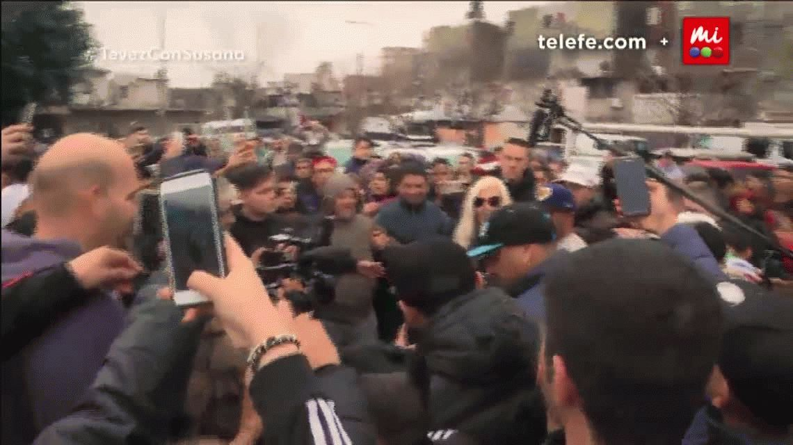 El gol de penal de Susana Giménez a Tevez en Fuerte Apache