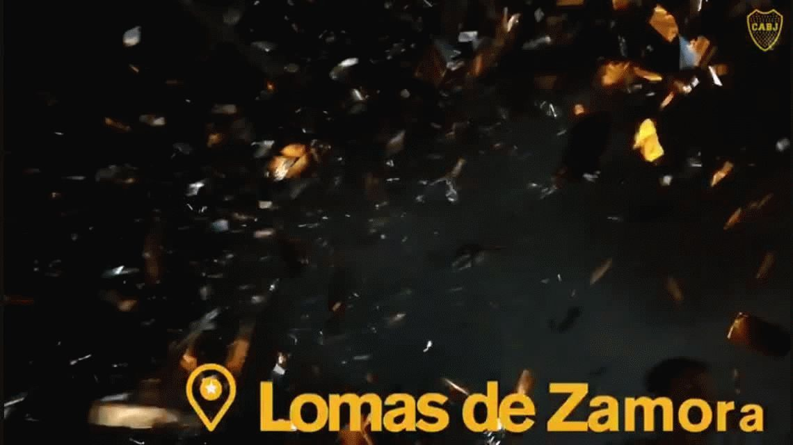 Boca llegó a Lomas de Zamora: el Municipio se tiñó de azul y oro