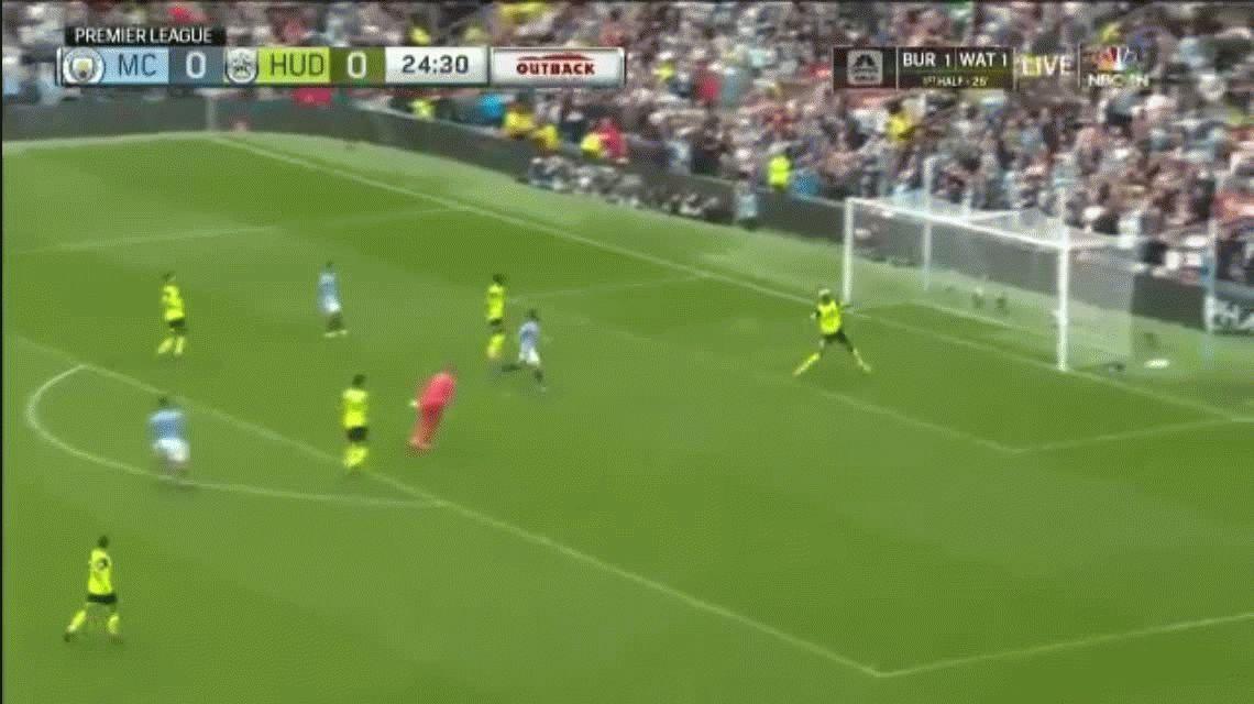¡Qué golazo! Esta genialidad del Kun Agüero abrió el triunfo del Manchester City