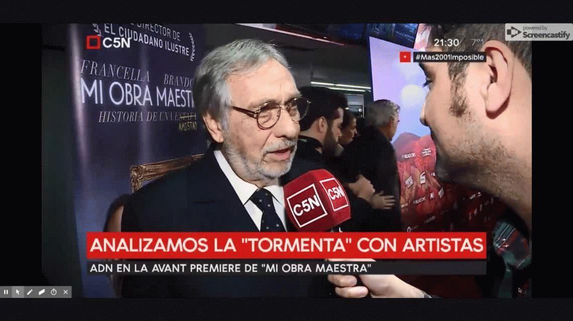 Para Luis Brandoni, Alfonsín se hubiera aliado con Macri
