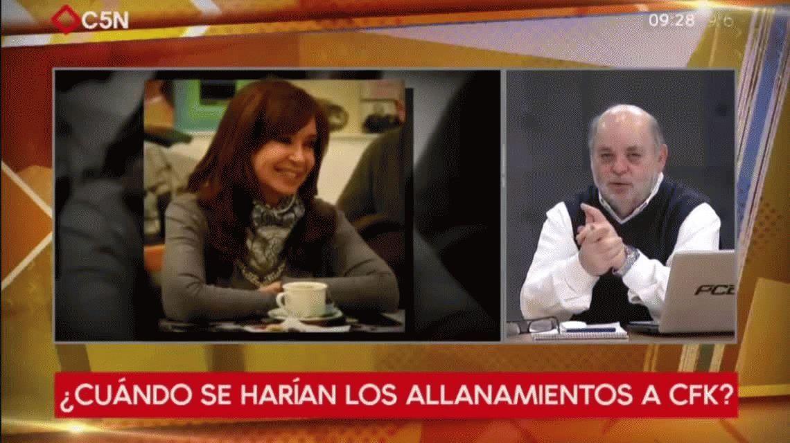 Los allanamientos a los domicilios de Cristina Kirchner podrían ser hoy mismo