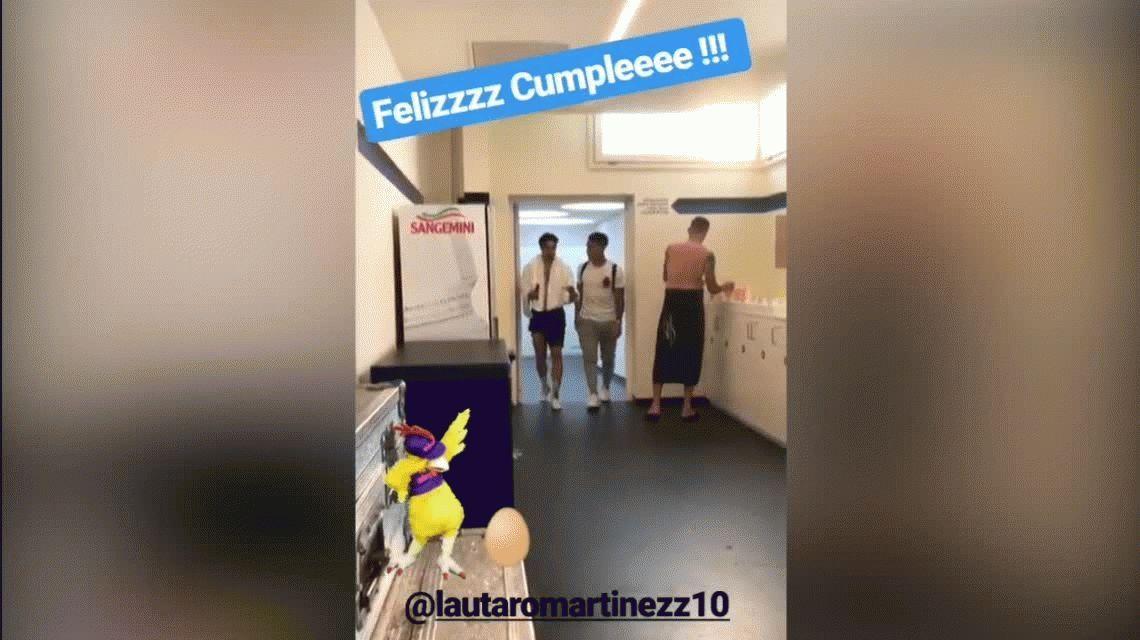 ¿Derecho de piso? Icardi le festejó el cumpleaños a Lautaro Martínez a su manera