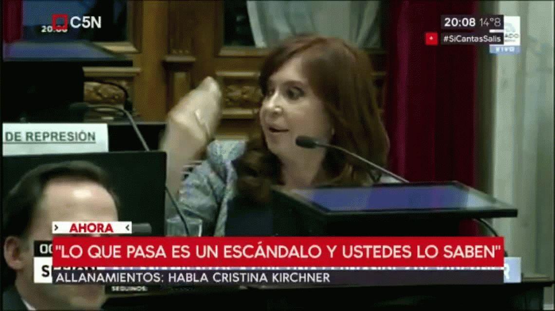 Los bolsos de Michetti, el títere de Bonadio y el estadista, las frases destacadas de Cristina en el Senado