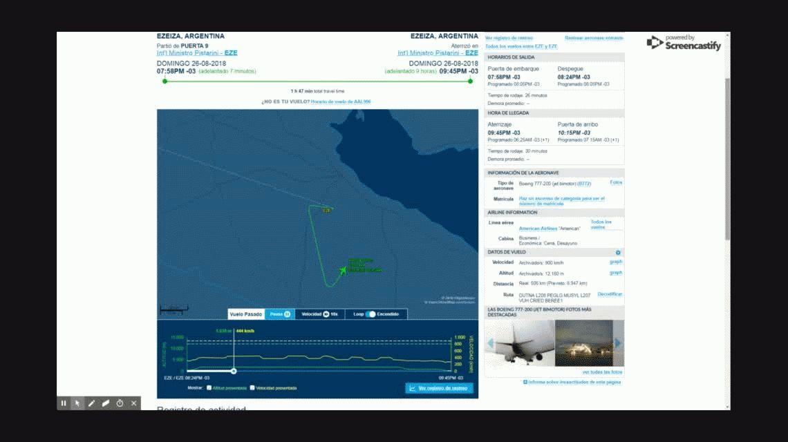 Otra vez un avión de American Airlines aterrizó de emergencia en Ezeiza