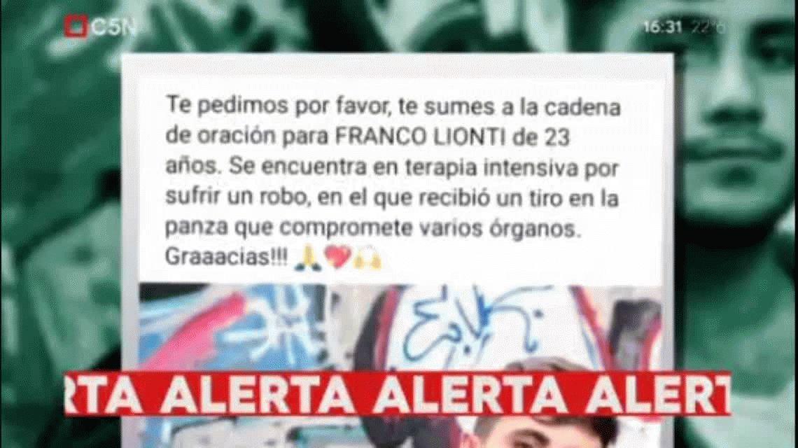 Un músico argentino lucha por su vida en México tras ser baleado durante un robo