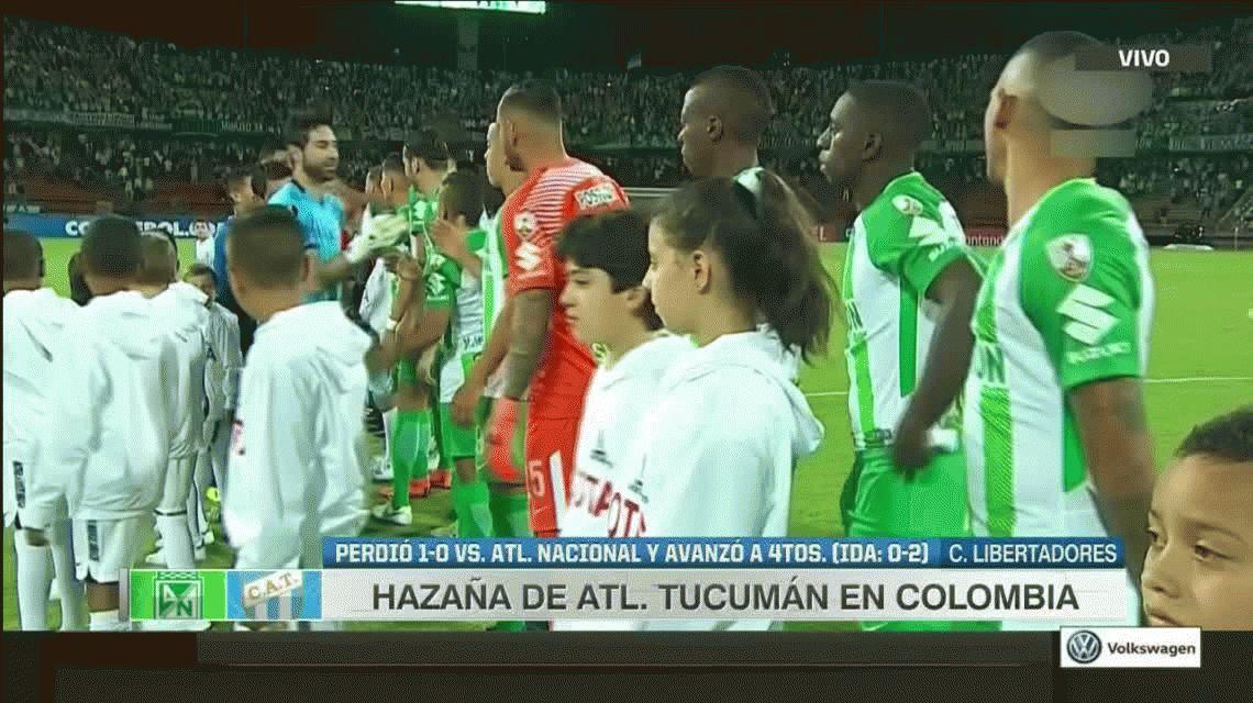 Atlético Tucumán perdió en Medellín pero clasificó a cuartos de final
