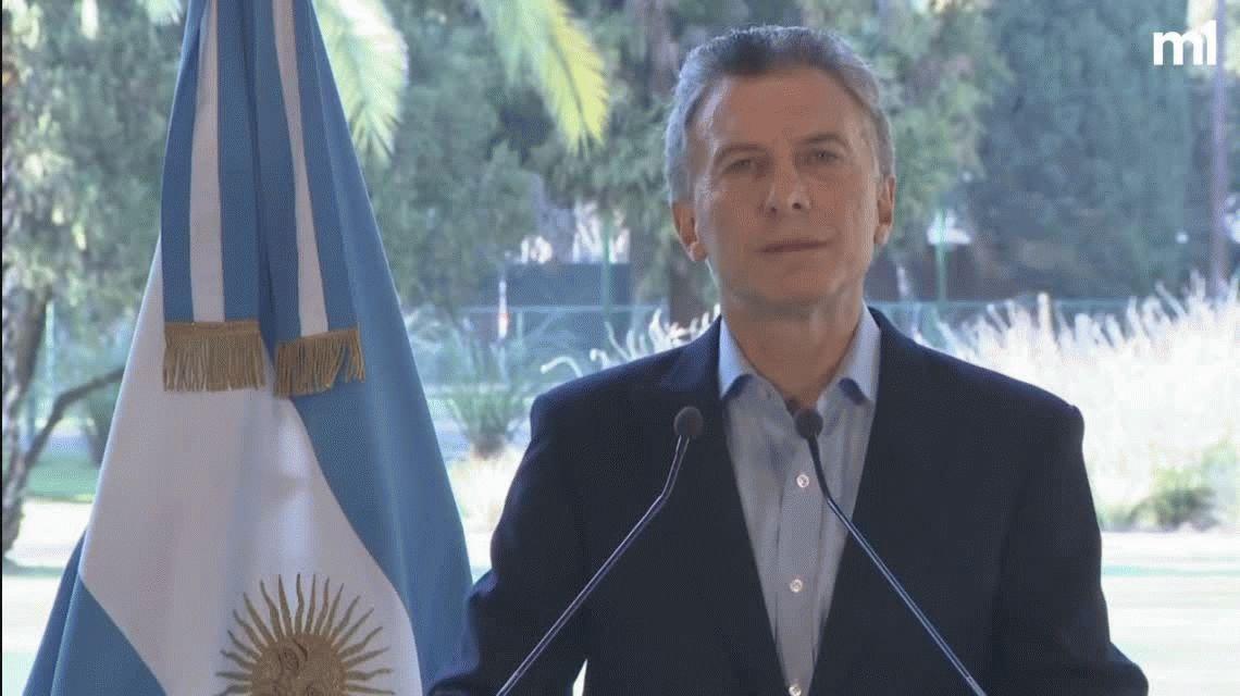 Macri: Acordamos con el FMI que adelante los fondos necesarios