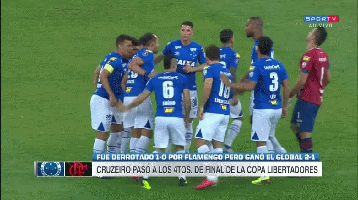 Cruzeiro eliminó a Flamengo y podría ser rival de Boca en cuartos