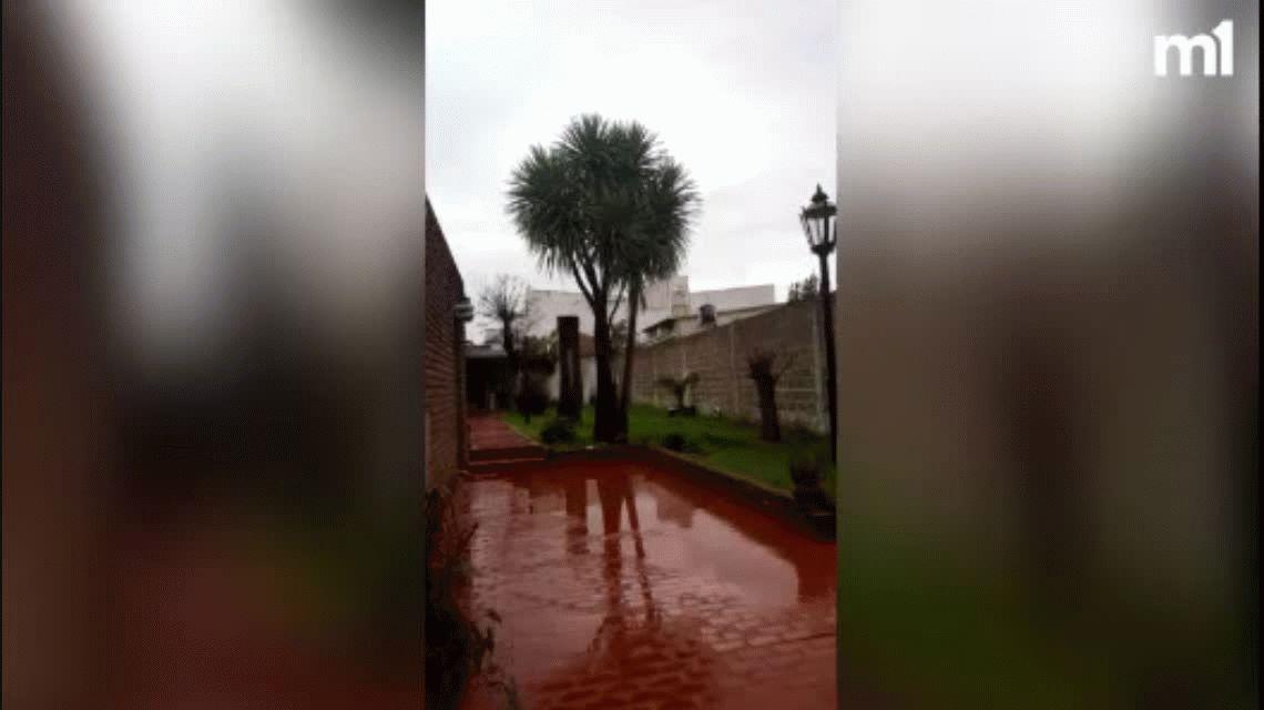 En medio de la tempestad del dólar, llegó la tormenta de Santa Rosa y granizó