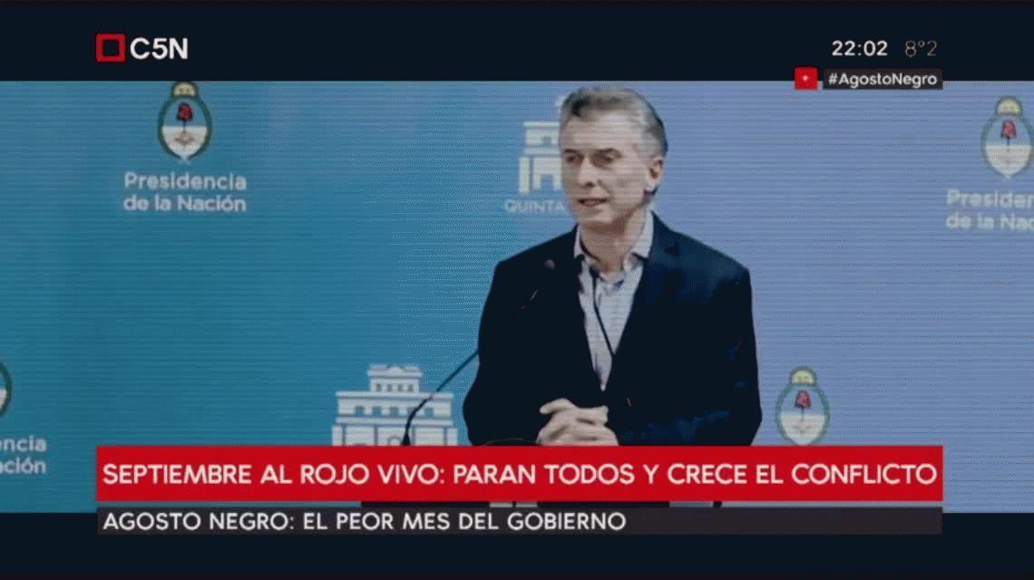 Agosto negro: así fue el peor mes del gobierno de Macri