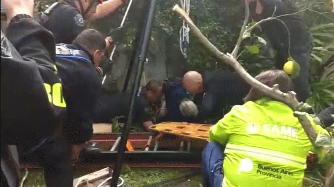 Una abuela de 95 años pasó 15 horas en un pozo y fue rescatada