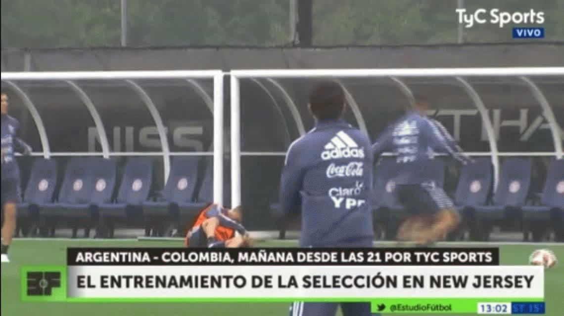 ¿Venganza por la eliminación de la Libertadores? El manotazo de un jugador de Racing al Pity Martínez