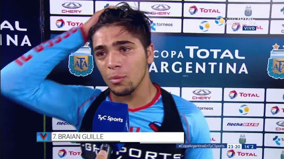 Por qué lloró Braian Guille, la figura de Brown de Adrogué ante Independiente