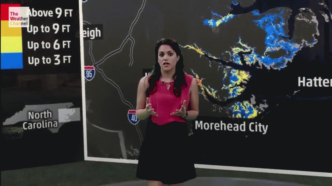 Espectacular animación de The Weather Channel con los posibles efectos del huracán Florence