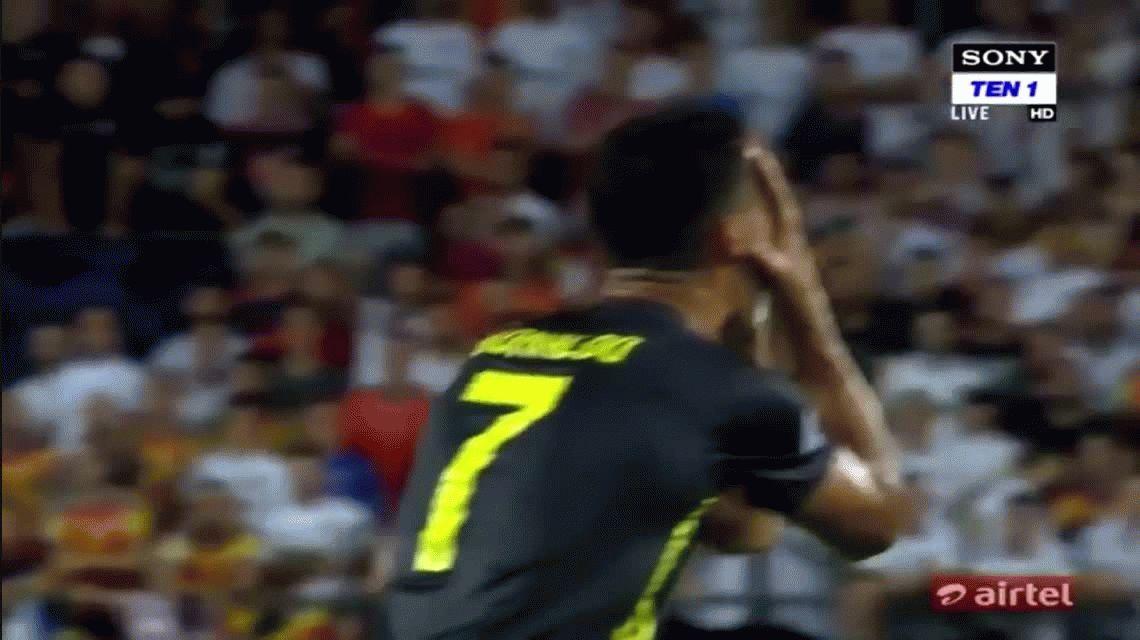 VIDEO: A puro llanto, Cristiano Ronaldo fue expulsado en su debut con Juventus en Champions League
