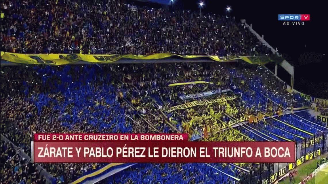 Boca le ganó a Cruzeiro en La Bombonera y puso un pie en las semifinales
