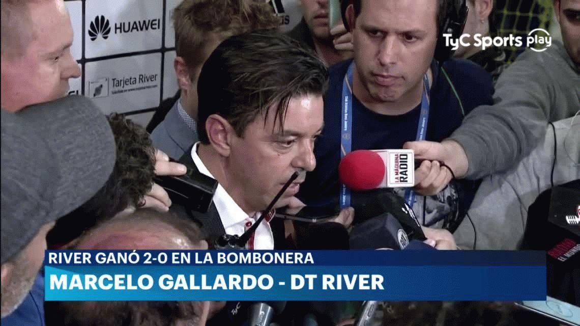 Apoteótico, la extraña palabra que usó Gallardo para calificar el segundo gol de River