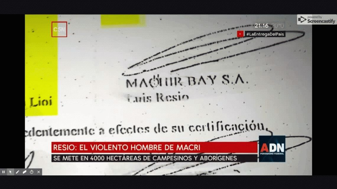 Denuncian que un testaferro de Macri quiere quedarse con 4 mil hectáreas de campesinos