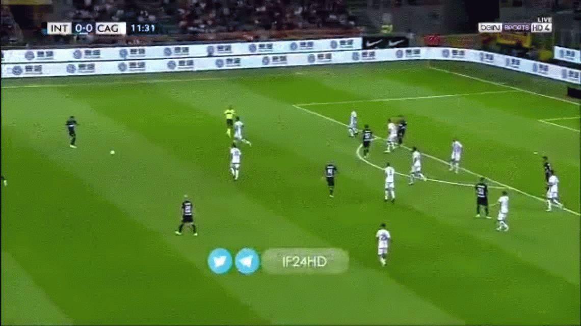 VIDEO: Lautaro Martínez hizo su primer gol oficial con Inter
