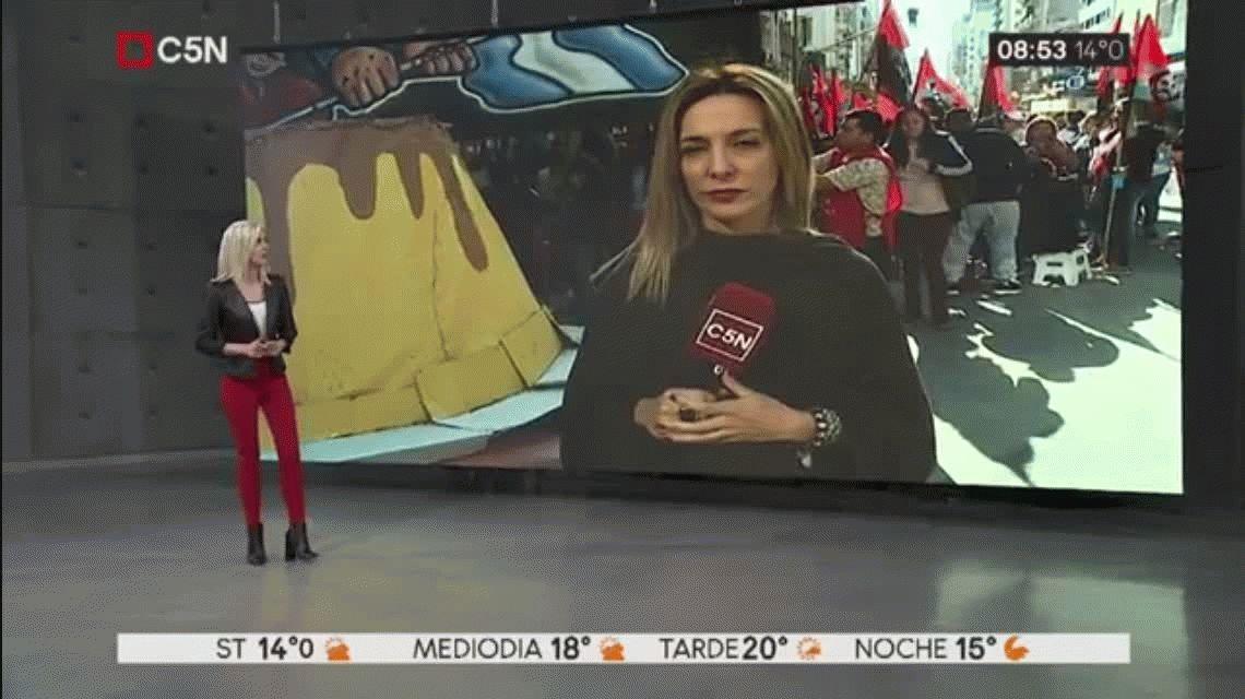 Protestaron con un Flanazo en Callao y Corrientes contra la política económica del Gobierno