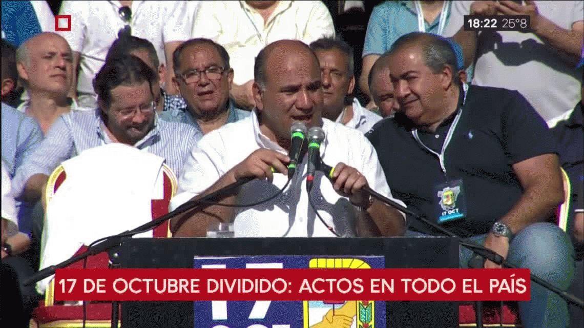 Massa, Scioli, Pichetto y Manzur celebraron juntos el Día de la Lealtad Peronista
