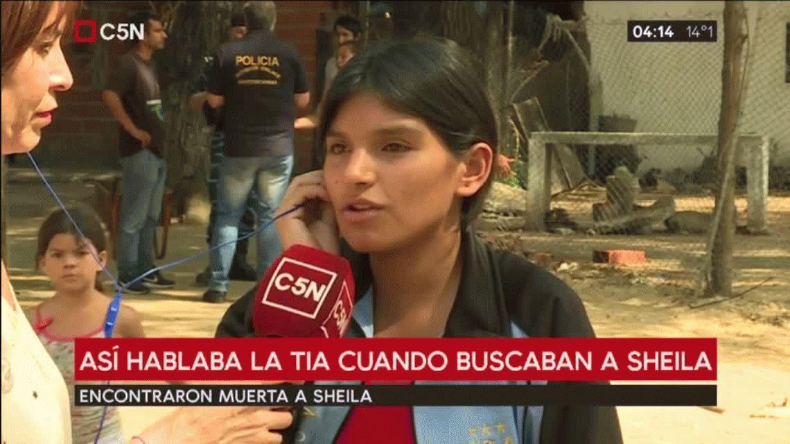 Mi sobrina se fue con alguien, decía la tía de Sheila Ayala antes de confesar el crimen