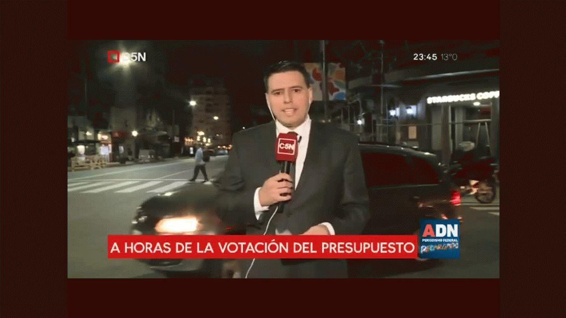 VIDEO: Aparecieron cascotes preparados en bolsas a horas de la votación del Presupuesto