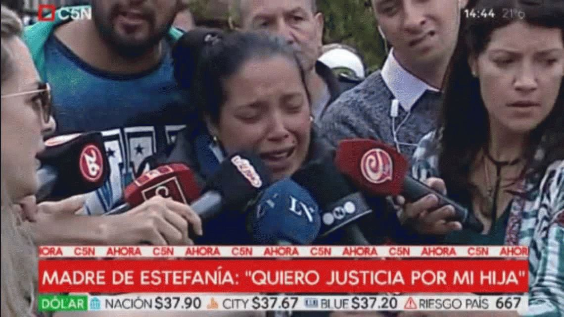 Quiero que lo maten: la madre de Estefanía pidió pena de muerte para el asesino de su hija y se descompensó