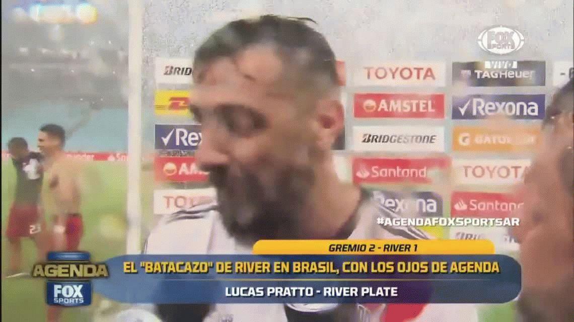 Descargo e insulto: la contundente frase de Pratto tras el triunfo de River en Brasil