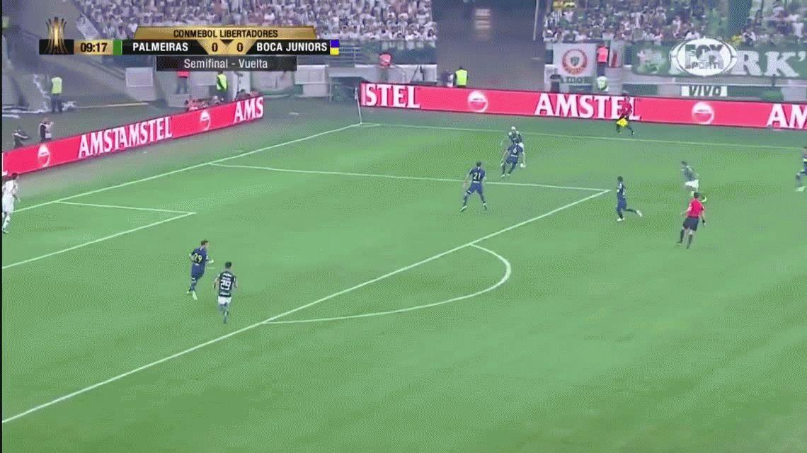 El VAR salvó a Boca: le anularon un gol a Palmeiras