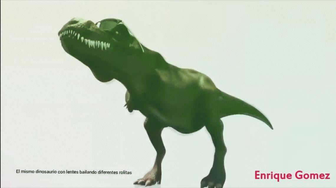 Baila de dinosaurio antes del apareamiento - 2 2