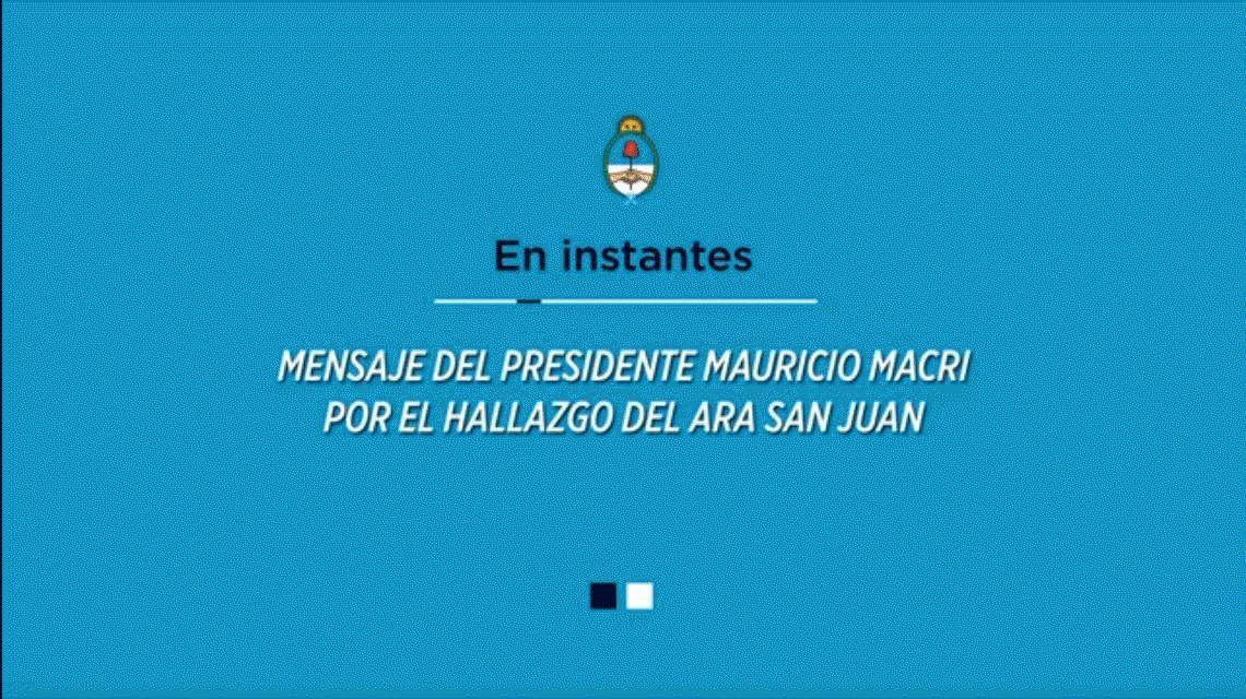 Macri decretó un duelo de tres días por los 44 del ARA San Juan