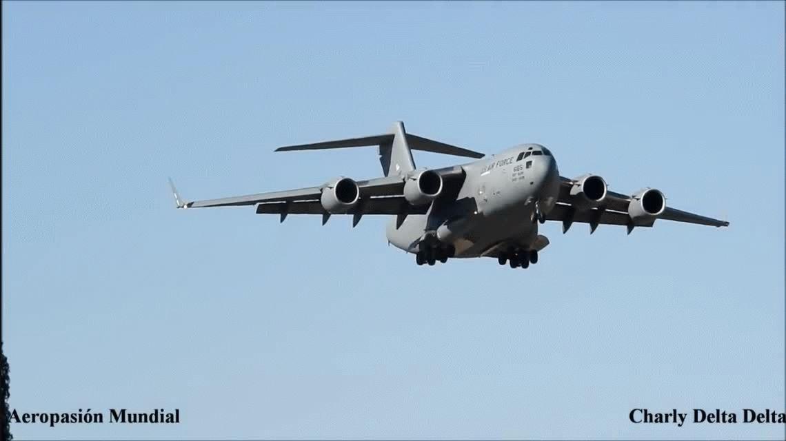 Aterrizó un avión militar de Estados Unidos en el aeropuerto de Mendoza