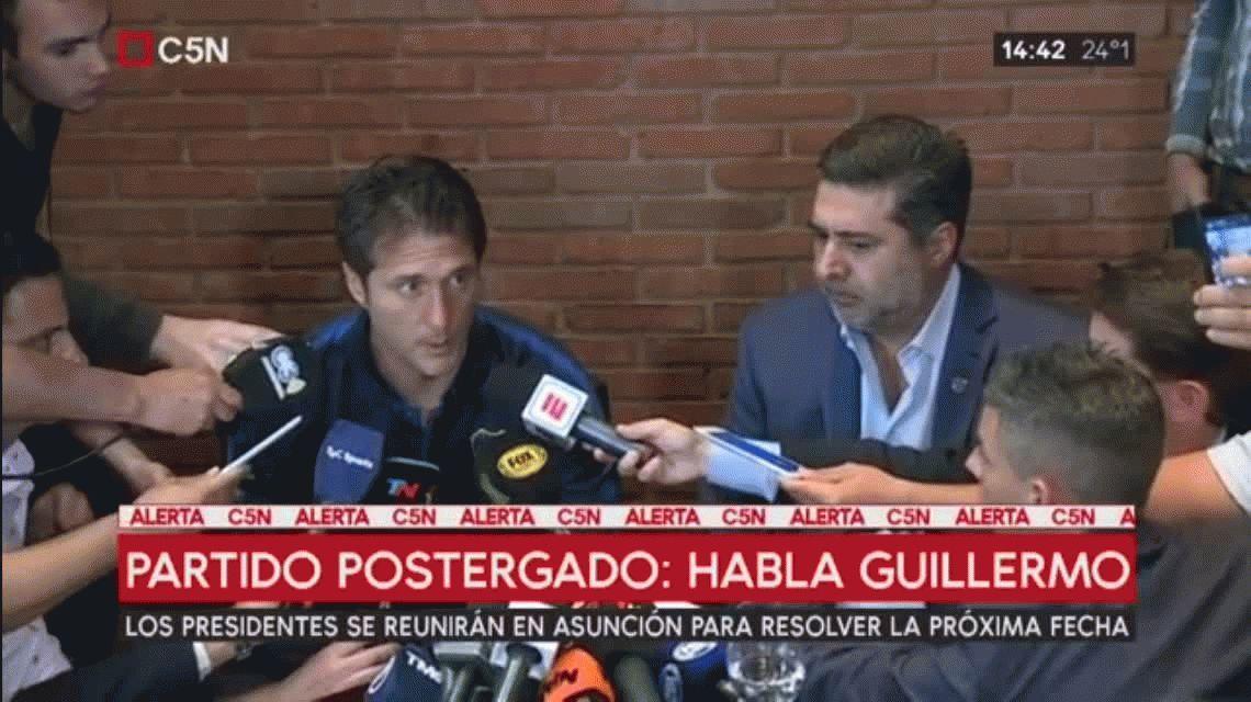 Guillermo Barros Schelotto: Estábamos claramente en desventaja y no se podía jugar