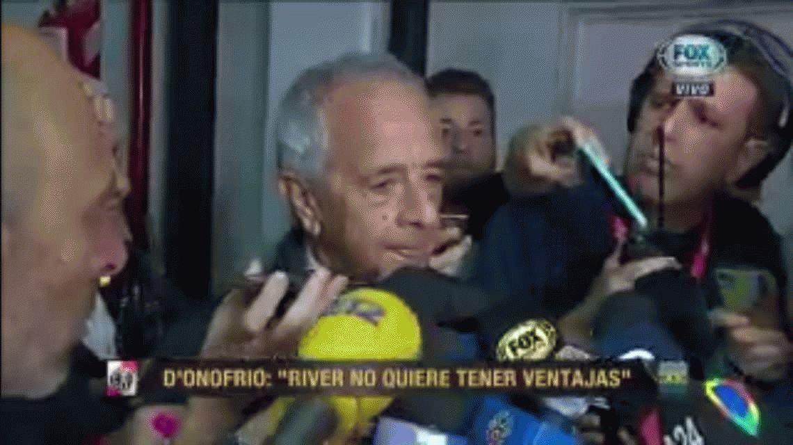 DOnofrio sorprendido por el reclamo de Boca: El sábado hubo un acuerdo para que no jugara en desventaja