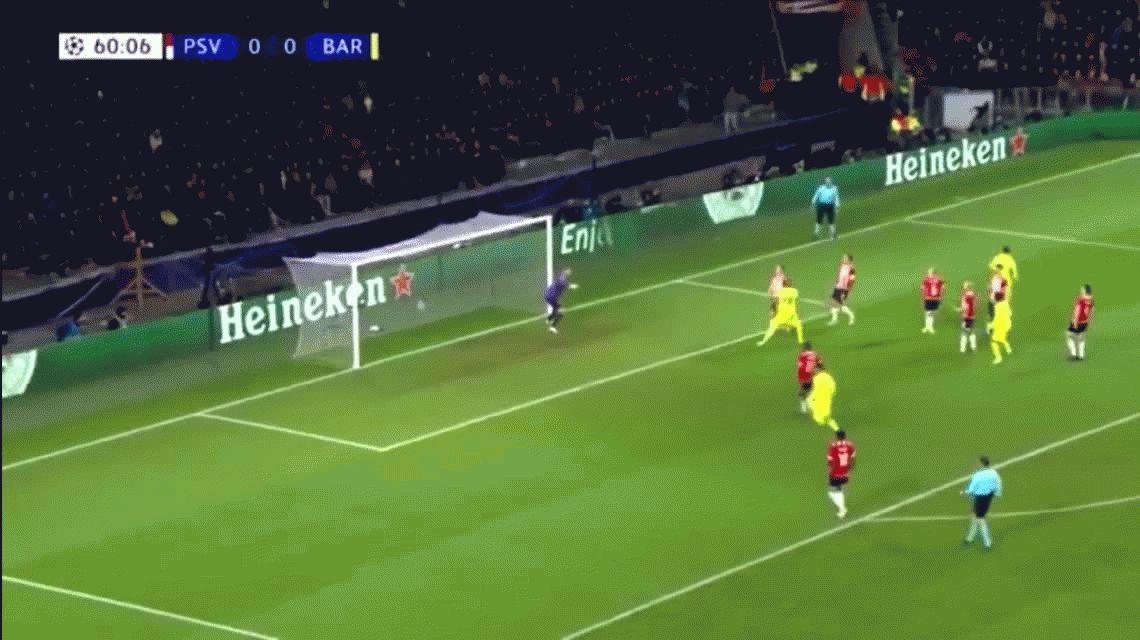 Con un golazo de Messi, Barcelona le ganó al PSV y avanzó primero a octavos