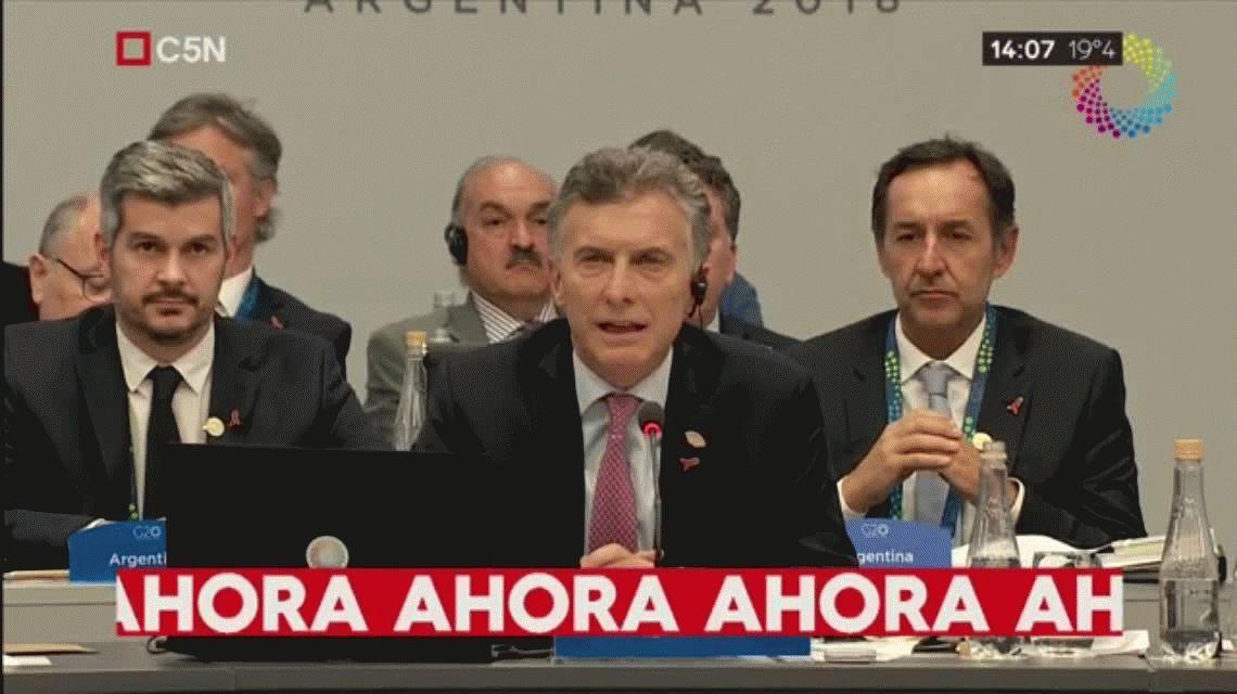 Macri, en el G20, contra los grandes endeudamientos que nos llevan a grandes retrocesos