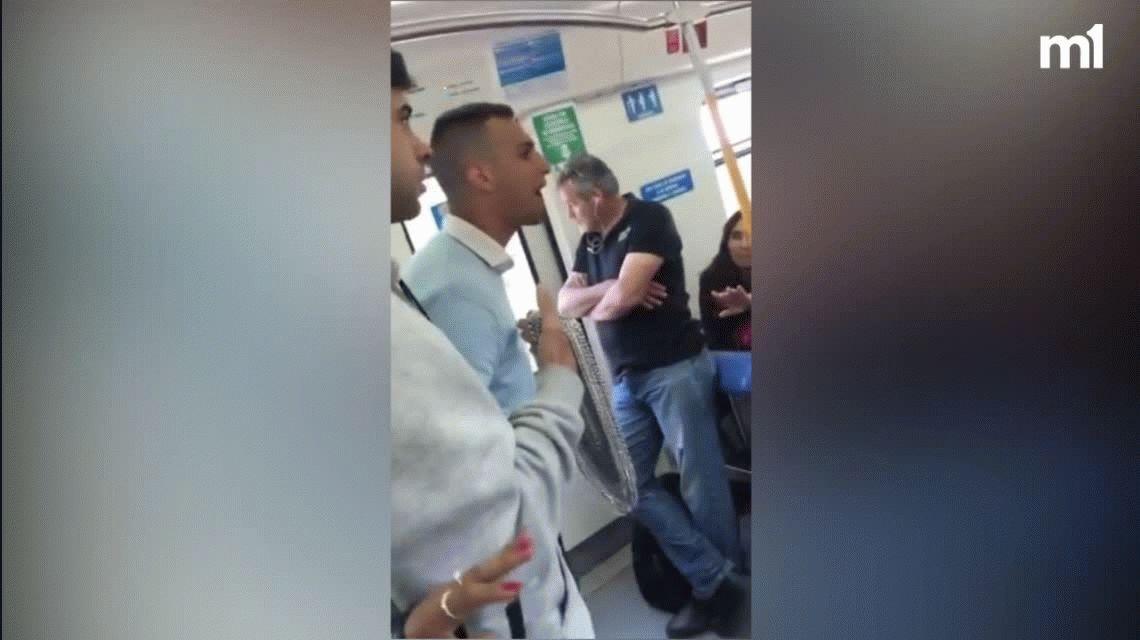Hacete el malo conmigo: el momento en el que increparon a Rodrigo Eguillor en un tren