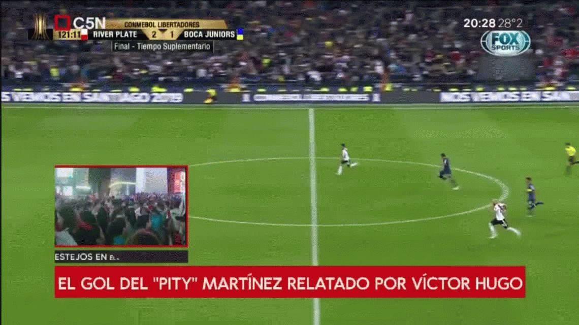 ¡Ta-ta-ta-tal! El gol del Pity Martínez relatado por Víctor Hugo en C5N