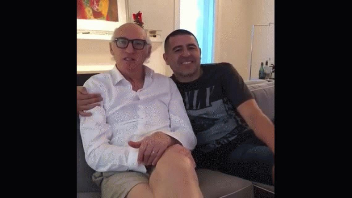 En las malas, dos ganadores: Bianchi y Riquelme saludan por el Día del Hincha de Boca