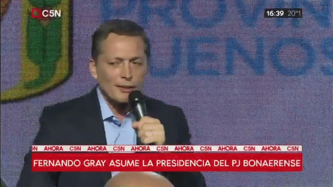 Gray asumió en el PJ bonaerense y prometió los mejores candidatos