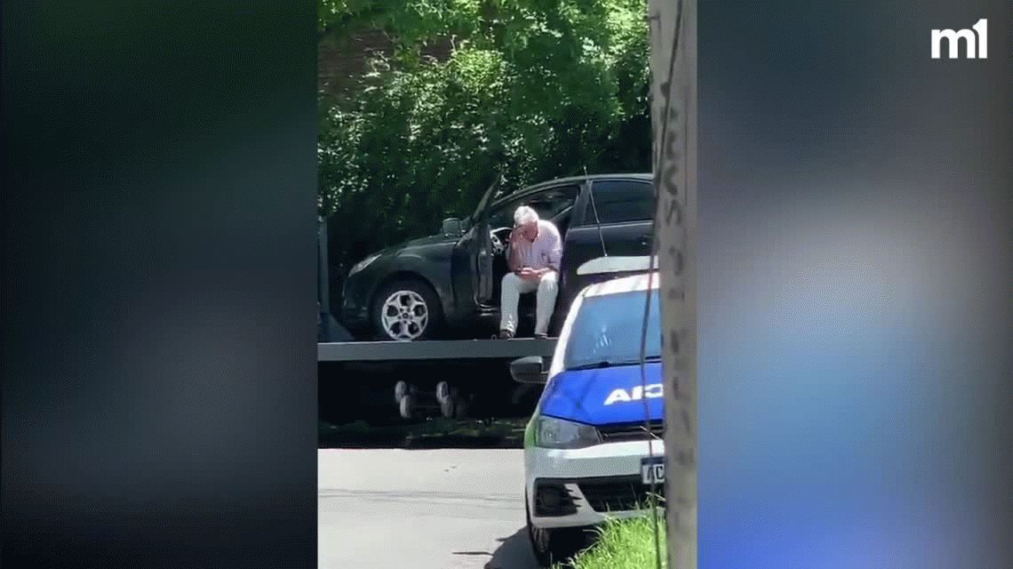 Relatos Salvajes en San Isidro: se sentó en su auto para que no se lo llevara la grúa