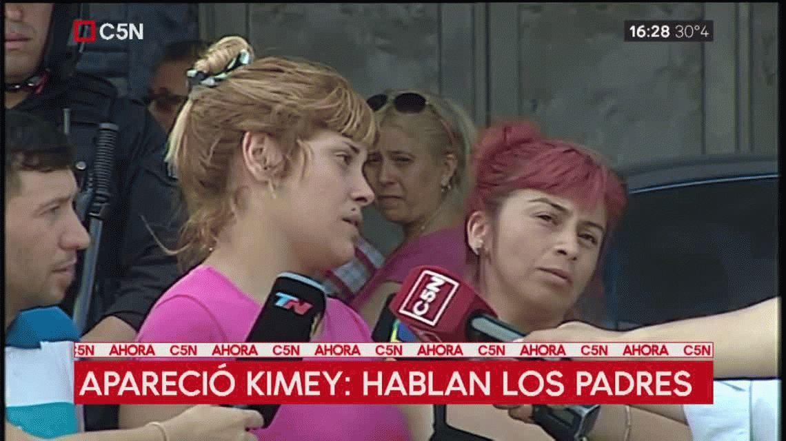 Habló la mamá de Kimey: Lo vi asustado pero reaccionó y volvió a ser él